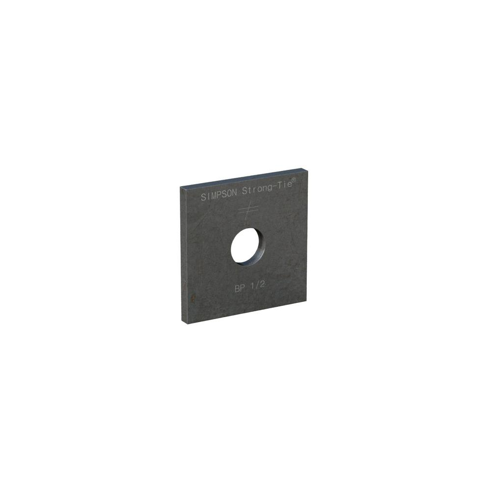 BP 1/2 in. Bolt Diameter 2 in. x 2 in. Bearing Plate