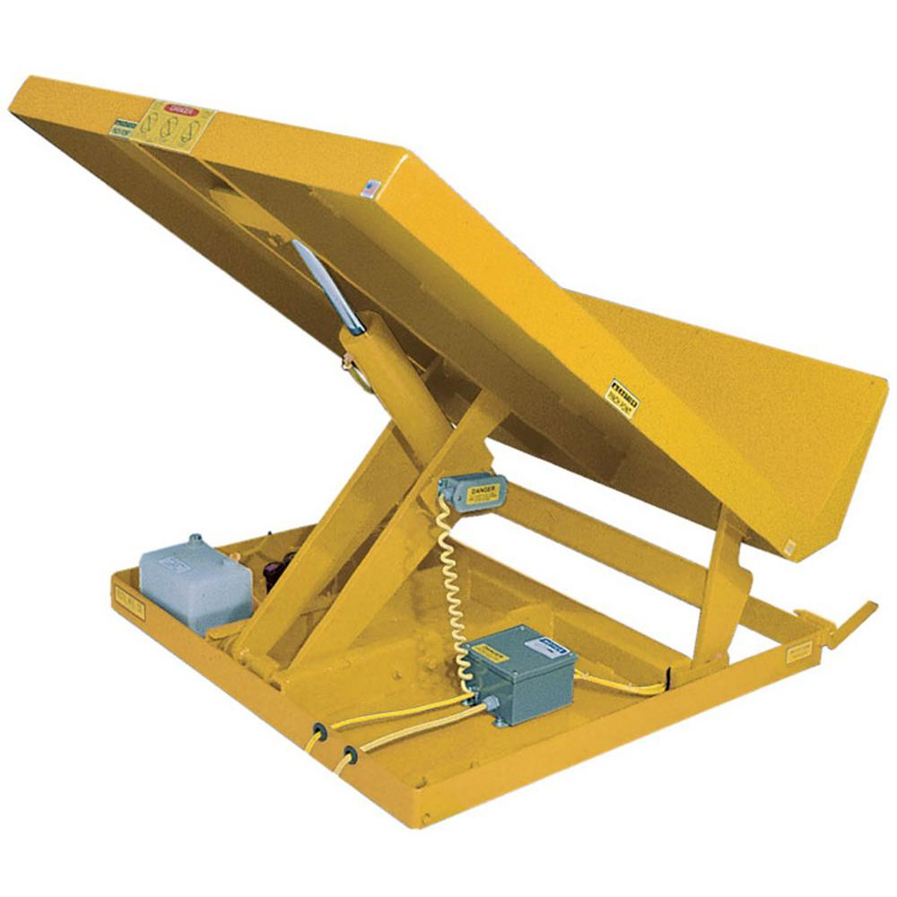 6,000 lb. Capacity 48 in. x 48 in. 115-Volt 1 Phase Yellow Lift Table