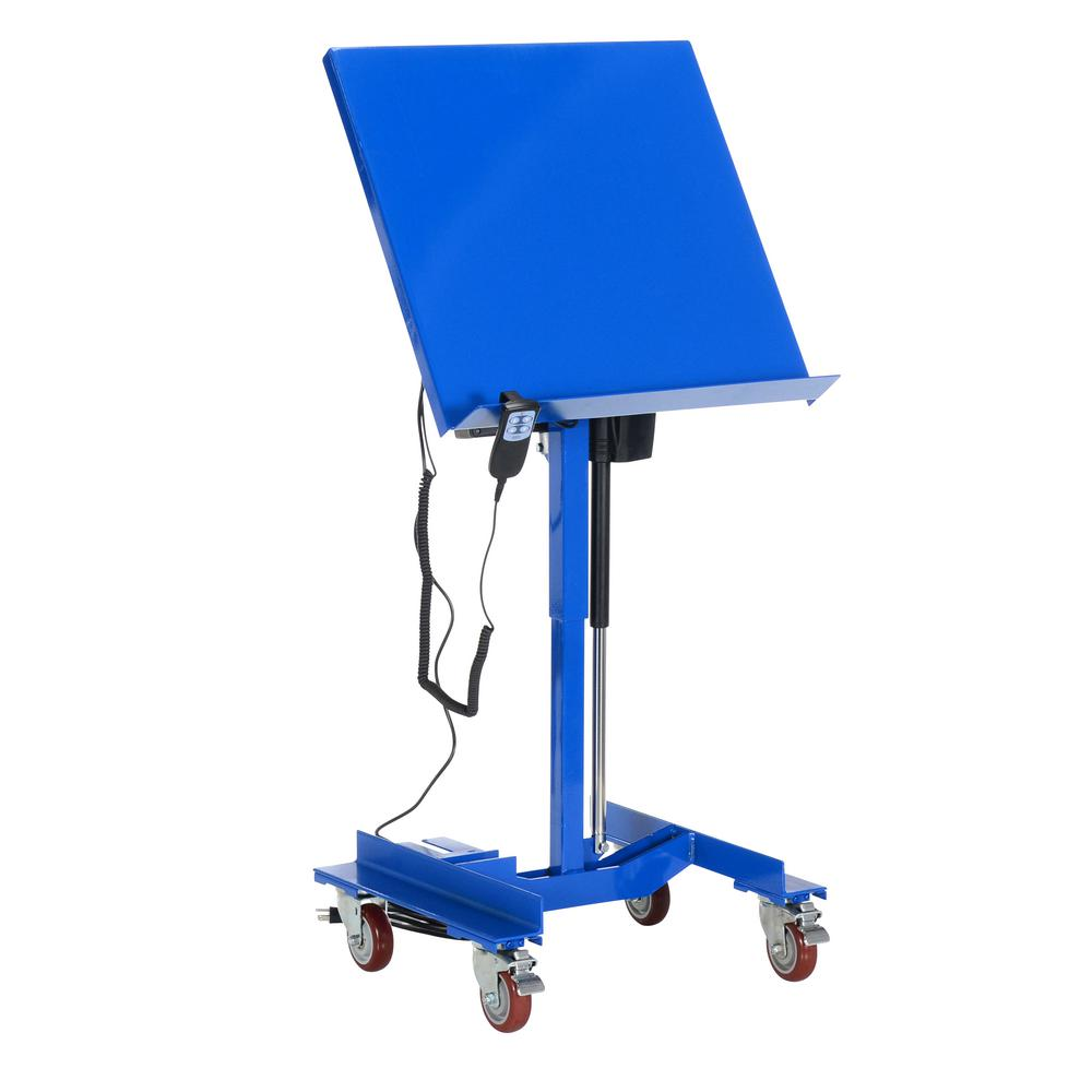 300 lb. Capacity 24 in. x 24 in. Linear Actuated Mobile Tilting Work Table