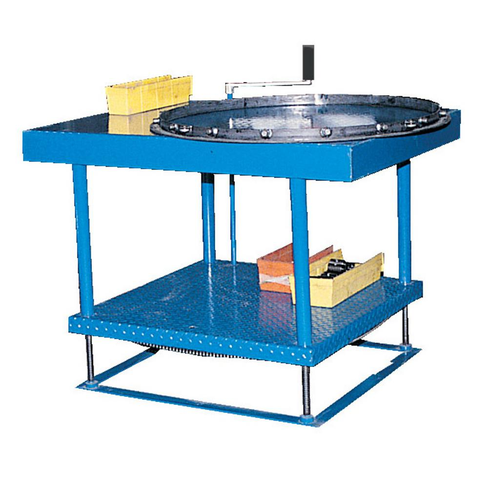 36 x 72 in. Hand Crank Hydraulic Adjustable Work Table