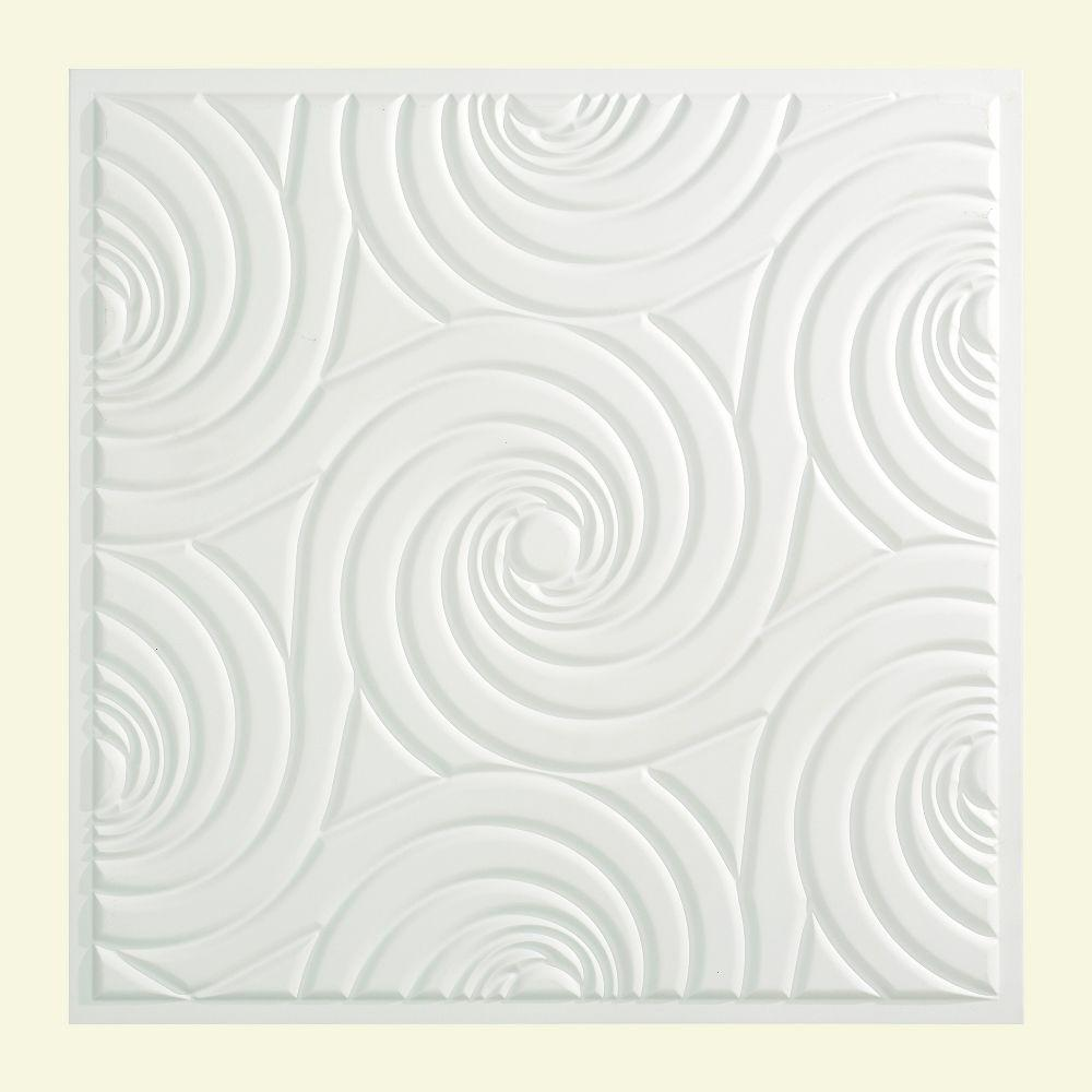 Typhoon - 2 ft. x 2 ft. Lay-in Ceiling Tile in Matte White