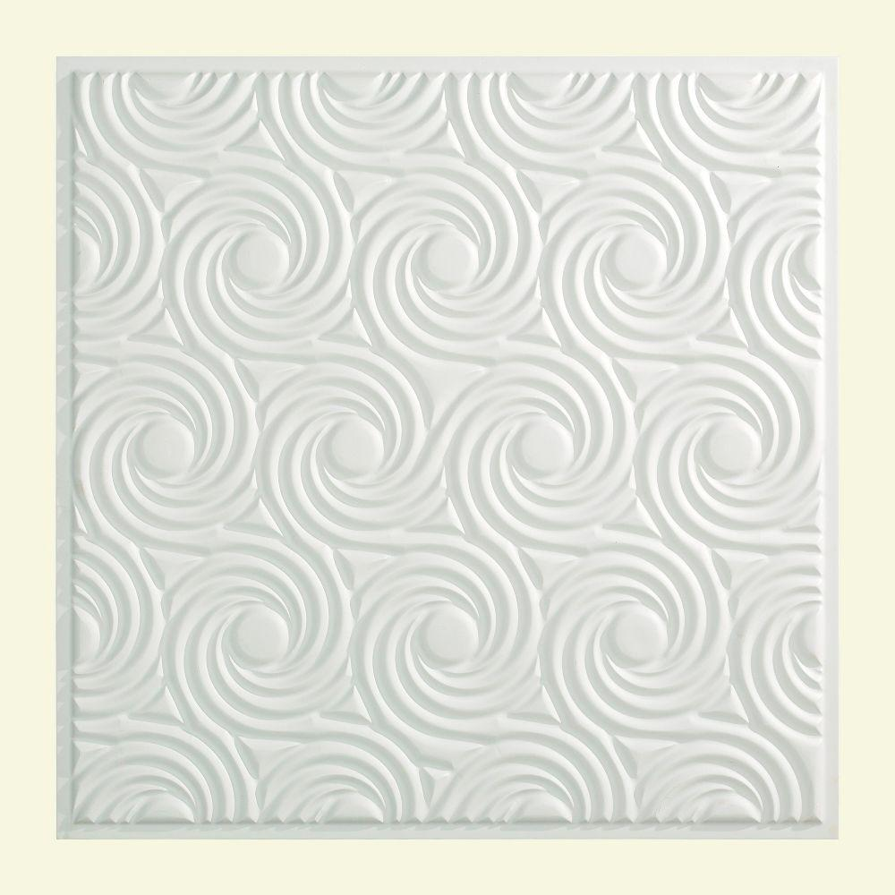 Cyclone 2 ft. x 2 ft. Lay-in Ceiling Tile in Matte White