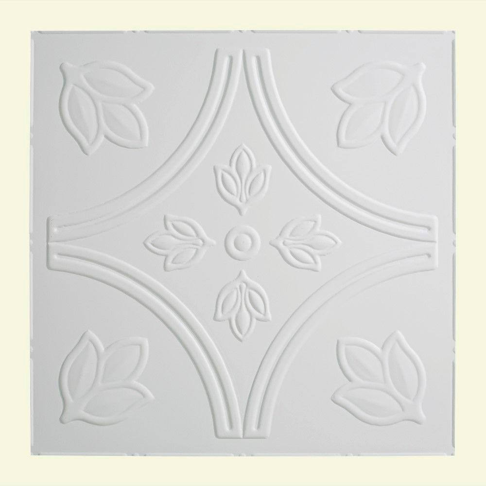 Traditional 5 - 2 ft. x 2 ft. Lay-in Ceiling Tile in Matte White