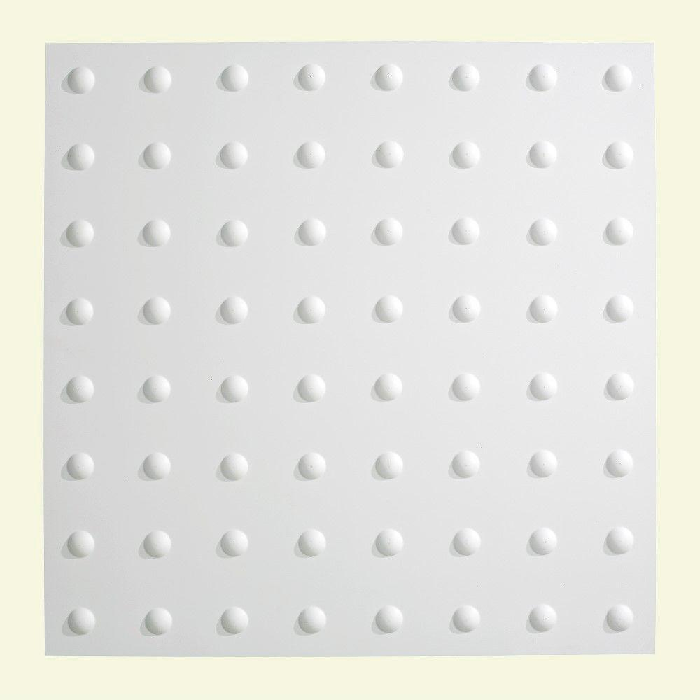 Dome - 2 ft. x 2 ft. Lay-in Ceiling Tile in Matte White