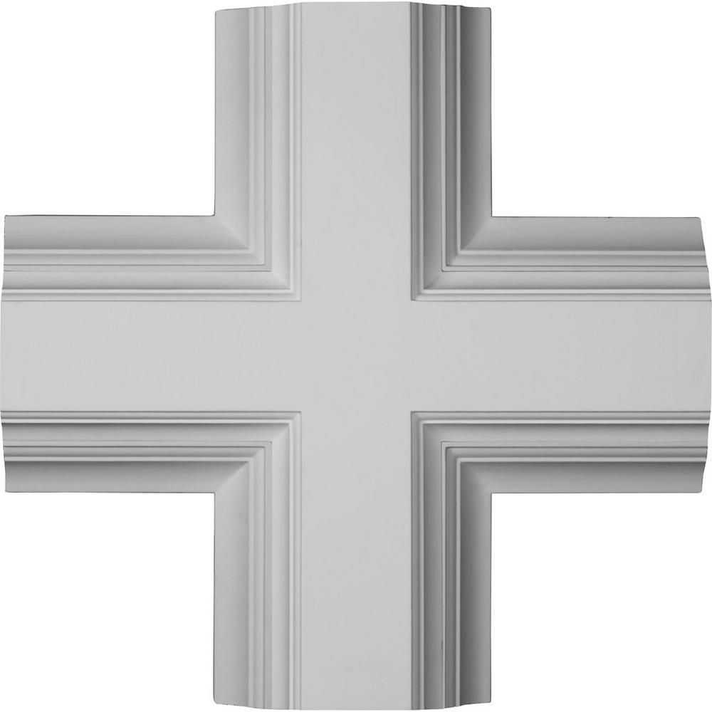 20 in. Inner Cross Intersection for 8 in. Deluxe Coffered Ceiling System